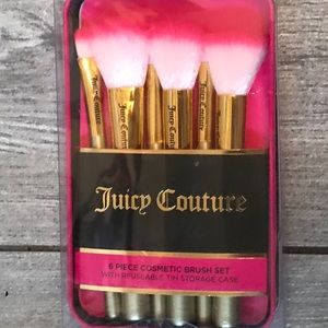 Juicy couture 6 pack of cosmetic brushes